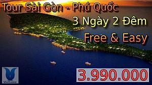 TOUR FREE & EASY SÀI GÒN PHÚ QUỐC 3 NGÀY 2 ĐÊM TẾT DƯƠNG LỊCH