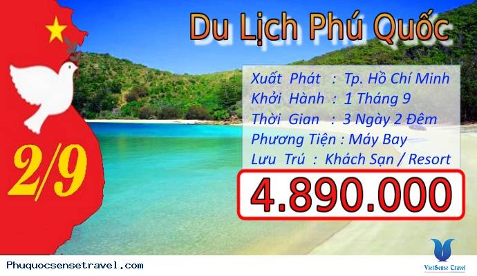 Tour Du Lịch Phú Quốc từ Sài Gòn dịp Lễ 2 Tháng 9